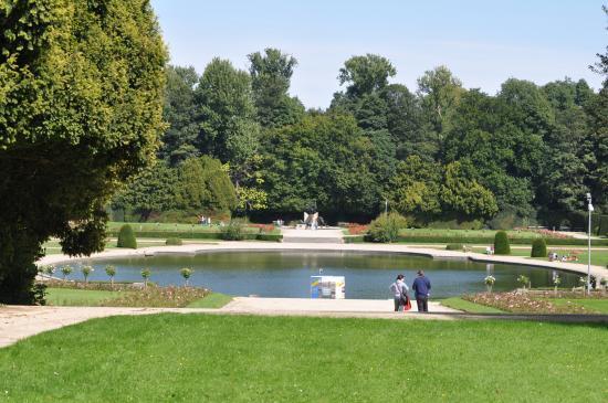 Un étang dans le parc