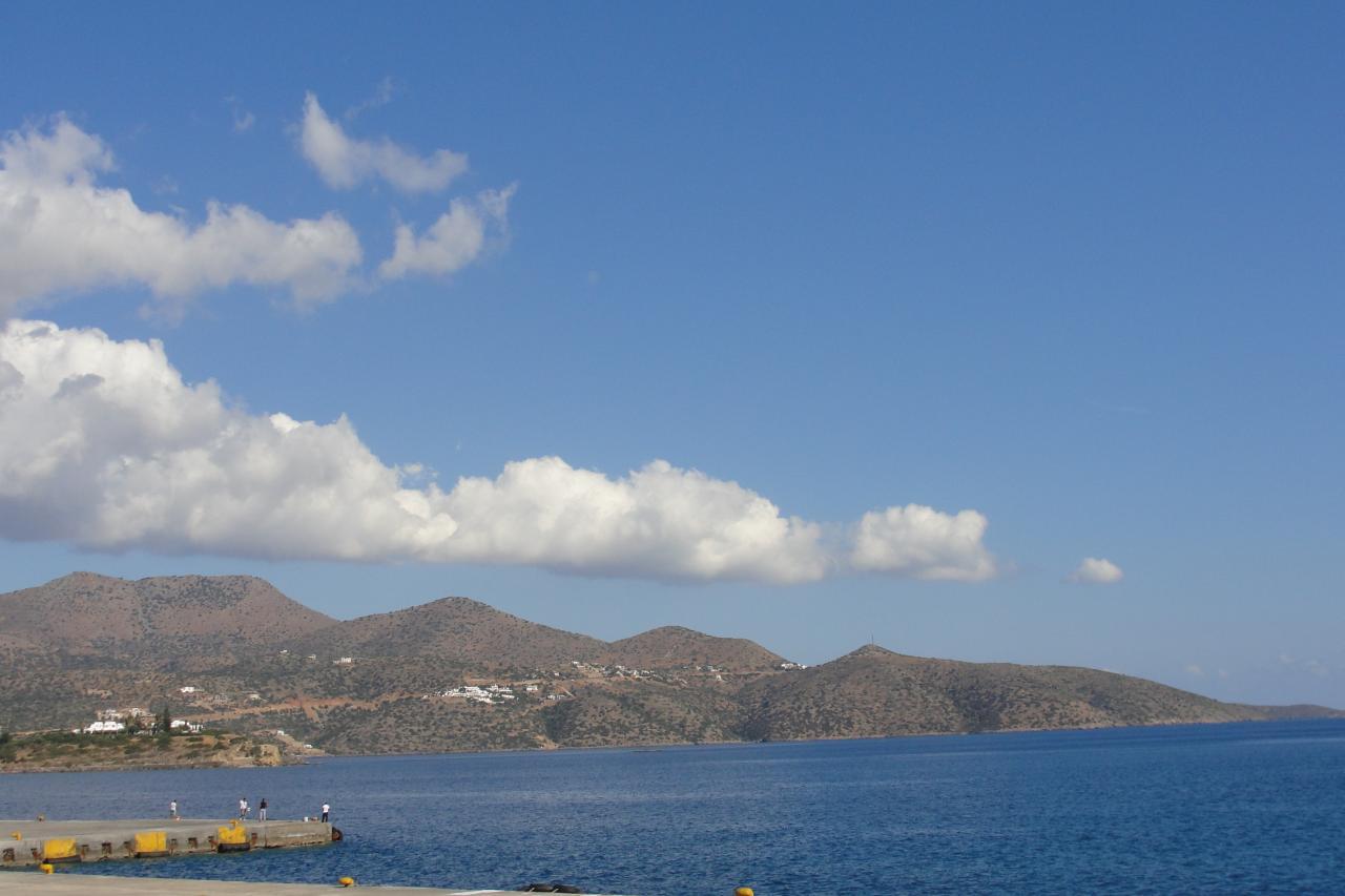 La baie de Spinalonga (Crète)